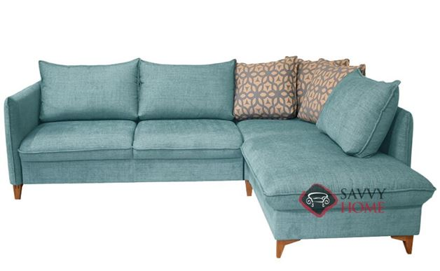 Flipper LAF Chaise Sectional Sofa Bed by Luonto in Naomi 321