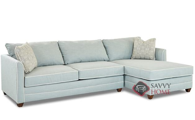 Valencia Compact Chaise Sectional Sleeper Sofa by Savvy