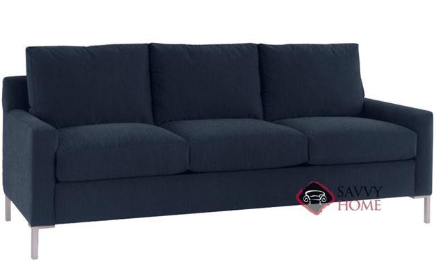Soho 3-Cushion Queen Sofa Bed in Inga Navy