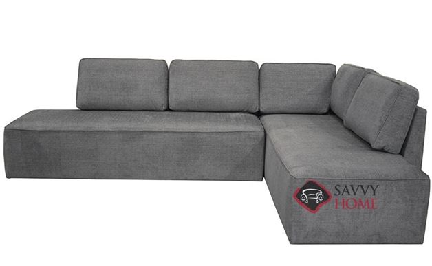 New York LAF Chaise Sectional Queen Sofa Bed with Storage by Luonto in Naomi 213