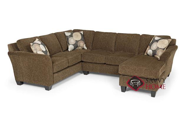 The 184 U-Shape True Sectional Sofa by Stanton in Brinkley Tobacco