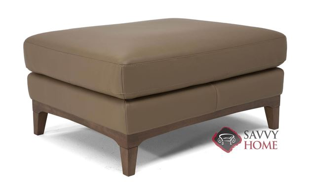 Bevera Leather Ottoman by Natuzzi Editions (B970-100)