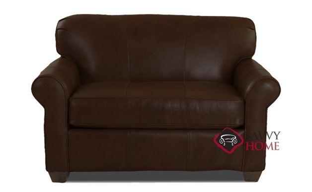 Calgary Leather Chair Sleeper Sofa in Durango Expresso