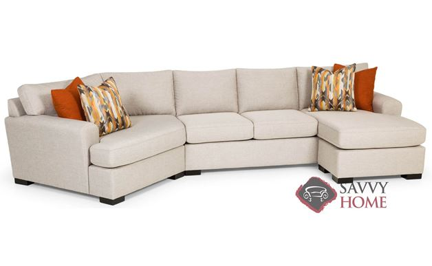 The 390 Curved Sectional Queen Sleeper Sofa by Stanton