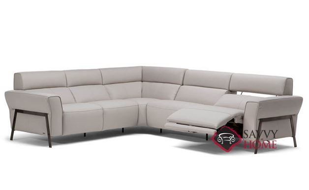 Neto Power Reclining Leather True Sectional by Natuzzi Editions (C021-450/291/011/291/452)