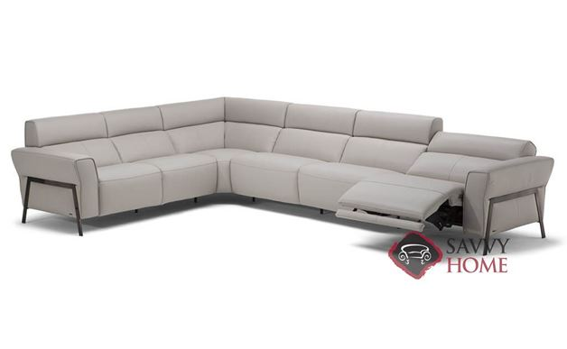 Neto Large Power Reclining Leather True Sectional by Natuzzi Editions (C021-450/291/011/291/291/452)