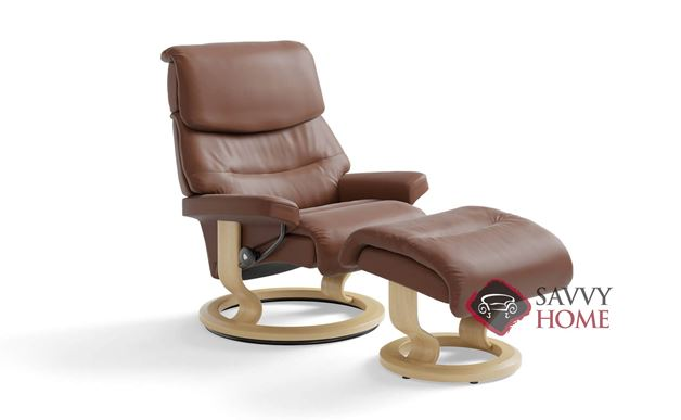 Capri Large Recliner and Ottoman by Stressless