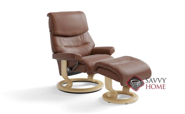 Capri Medium Recliner and Ottoman by Stressless