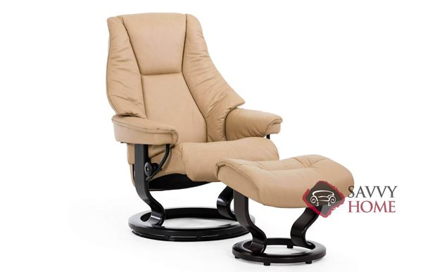 Live Small Recliner and Ottoman by Stressless