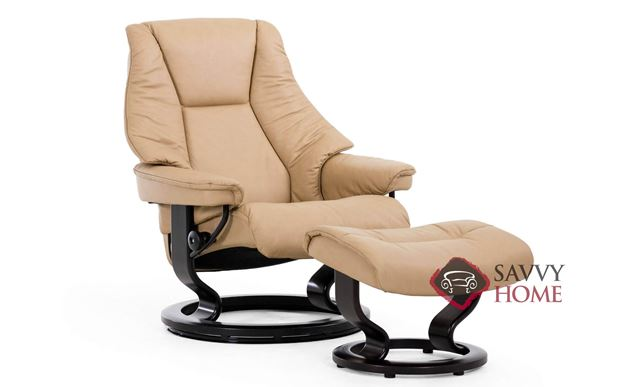 Live Large Recliner and Ottoman by Stressless