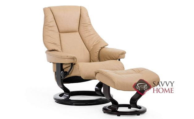 Live Medium Recliner and Ottoman by Stressless