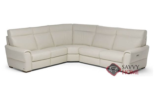 Topino Power Reclining Leather True Sectional by Natuzzi Editions (C046-514/638/029/638/515)