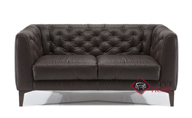 Magra Leather Loveseat by Natuzzi Editions (B988-005)