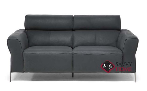 Neto Power Reclining Leather Loveseat by Natuzzi Editions (C021-193)