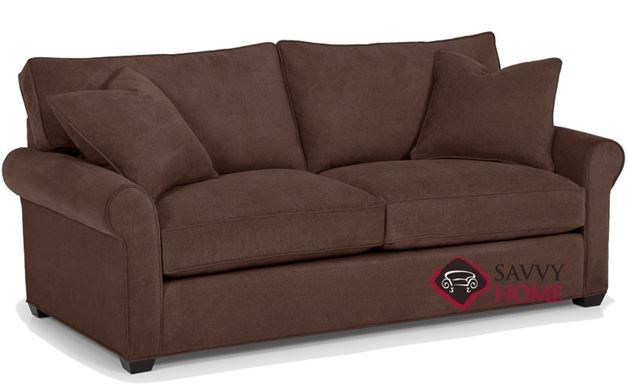 The 225 Queen Sleeper Sofa by Stanton shown in Caprice Cocoa