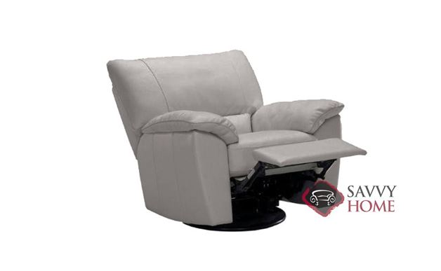 Trento (B632-004) Reclining Leather Chair by Natuzzi Editions in Denver Medium Grey