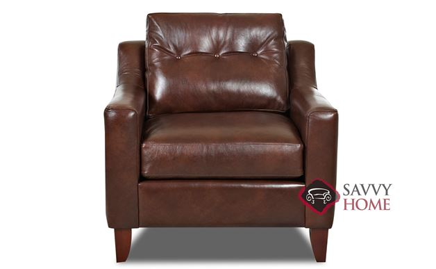 Austin Leather Chair by Savvy in Brown Leather
