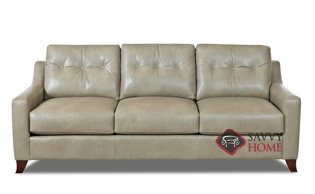 Austin Leather Sofa By Savvy In Steamboat Putty