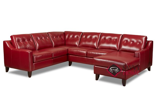 Austin Leather Stationary True Sectional By Savvy Is Fully