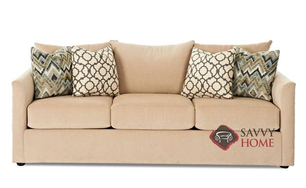 Aventura Queen Sofa Bed by Savvy in Homerun Ivory