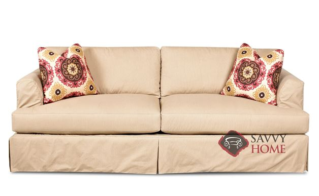 Berkeley Sofa with Slipcover by Savvy in Rift Dune