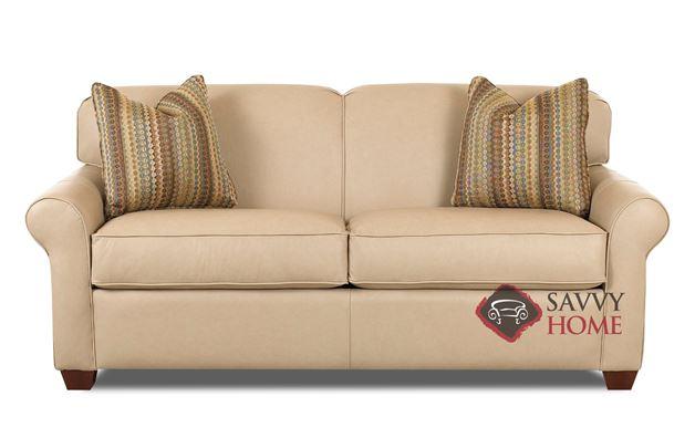 Calgary Leather Full Sleeper Sofa