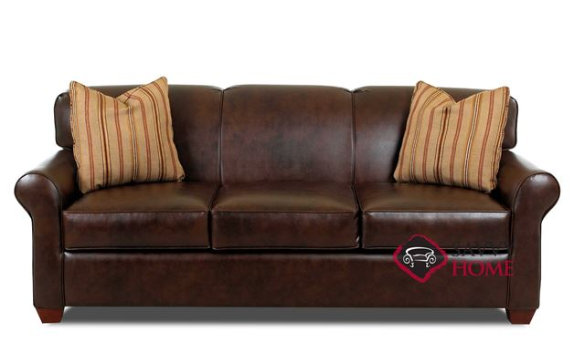 Calgary Leather Queen Sleeper Sofa