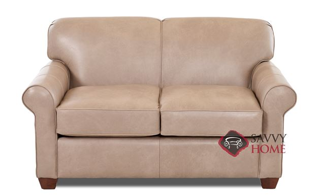 Calgary Leather Twin Sleeper Sofa by Savvy
