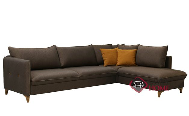 Pepper Chaise Sectional Full XL Sofa Bed by Luonto