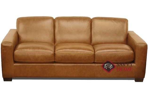B534 Natuzzi Queen Sleeper Sofa in Urban Camel