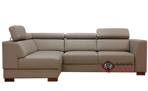 Halti Chaise Sectional Sleeper Sofa in Lens 700 by Luonto