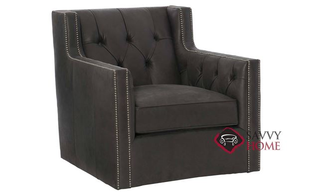 Candace Leather Chair with Down-Blend Cushions by Bernhardt in 133-011