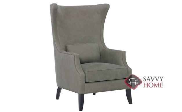 Mona Leather Chair with Down-Blend Cushion by Bernhardt in 204-010