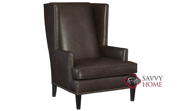 Nathan Leather Chair with Down-Blend Cushion by Bernhardt in 171-222