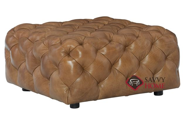 Rigby Leather Ottoman by Bernhardt in 145-077