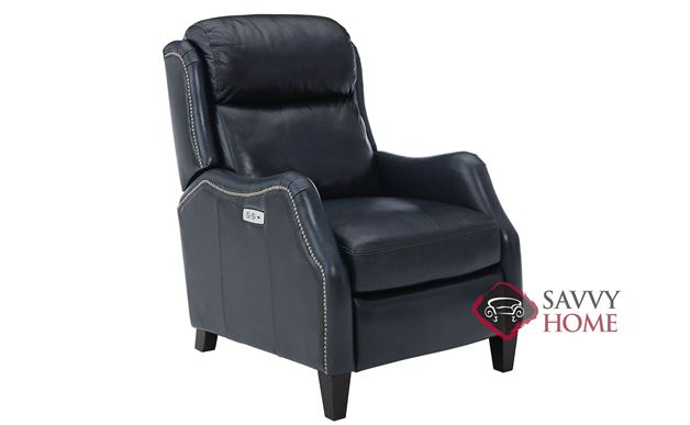 Isaac Leather Recliner with Down-Blend Cushion by Bernhardt in 165-034