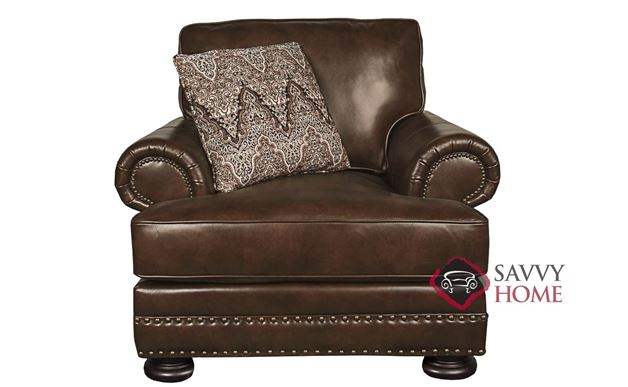 Foster Leather Chair with Down-Blend Cushion by Bernhardt in 266-220