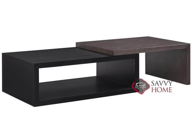 Kaplan Adjustable Rectangular Cocktail Table with 2 Black Boxes by Palliser