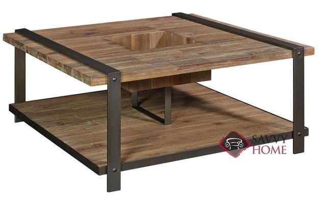 Hamlin Square Cocktail Table with Wood Top by Palliser
