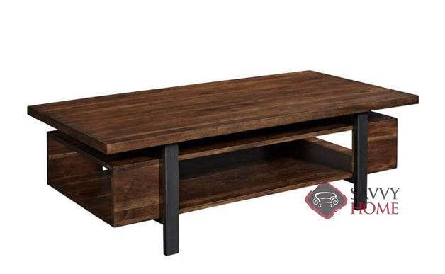Travis Rectangular Cocktail Table with Wood Top by Palliser
