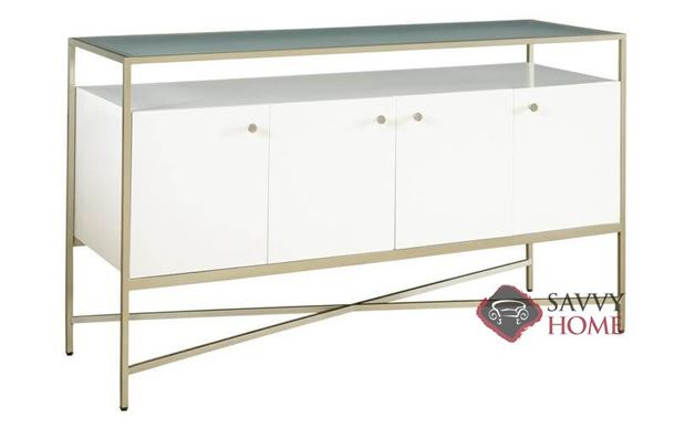 Delaney Entertainment Console with Glass Top by Palliser