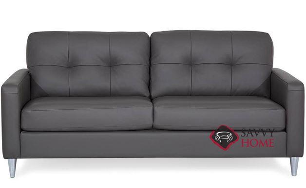Beech Leather Sofa by Palliser