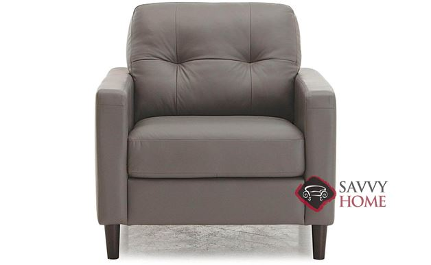 Beech Top-Grain Leather Arm Chair by Palliser