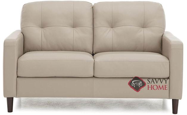 Beech Top-Grain Leather Loveseat by Palliser