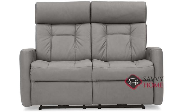 West Coast II My Comfort Power Dual Reclining Top-Grain Leather Loveseat with Power Headrest