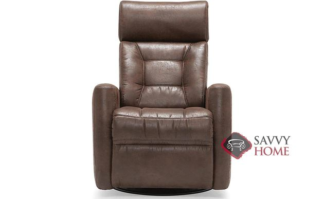 Baltic My Comfort Reclining Top-Grain Leather Chair with Power Adjustable Headrest by Palliser