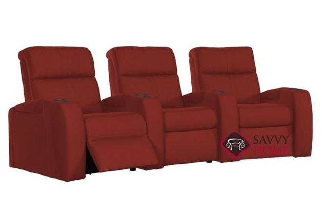 Flicks 3-Seat Power Reclining Home Theater Seating (Curved) by Palliser