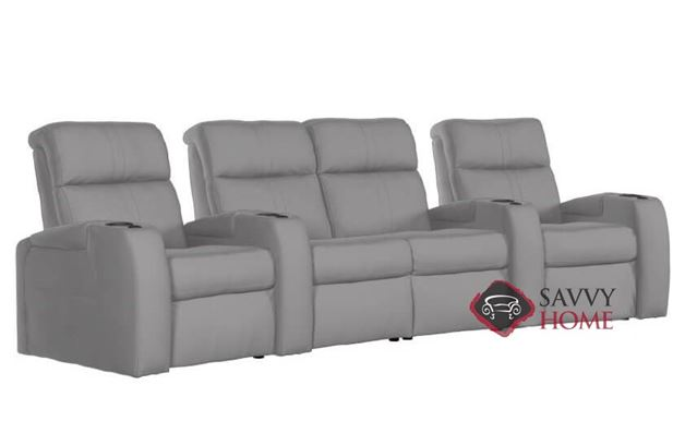 Flicks 4-Seat Reclining Home Theater Seating with Loveseat (Curved) with Consoles by Palliser