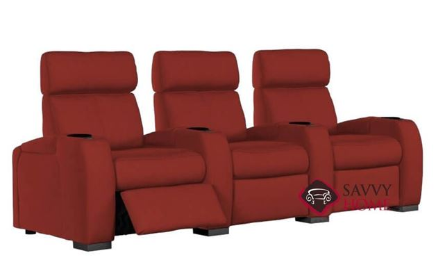 Lemans 3-Seat Power Reclining Home Theater Seating (Straight) with Consoles by Palliser