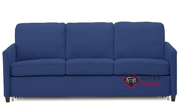 California CloudZ Leather Queen Sofa Bed by Palliser in Valencia Sapphire